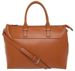 Lodis Audrey Wilhelmina Leather Work Satchel - Brown