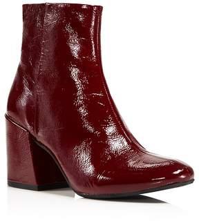 Kenneth Cole Randii Patent Leather Block Heel Booties