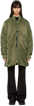 Acne Studios Green Coos Bomber Jacket