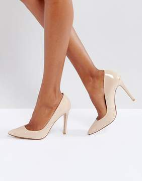 Dune London Aiyana Nude Leather Heeled Shoes