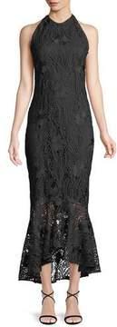 Shoshanna Carmina Guipure Lace High-Low Gown