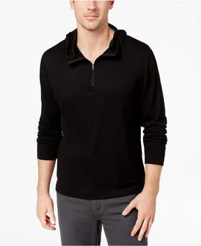 Alfani Men's Quarter-Zip Stretch Hooded T-Shirt, Created for Macy's
