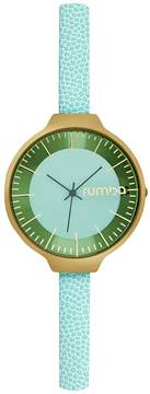 RumbaTime Women's Orchard Leather Mint Dial Watch
