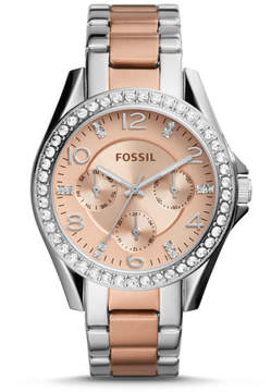 Fossil Riley Multifunction Two-Tone Stainless Steel Watch