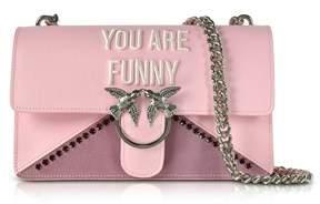 Pinko Women's Pink Synthetic Fibers Shoulder Bag.