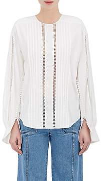 Chloé Women's Embellished Cotton Blouse