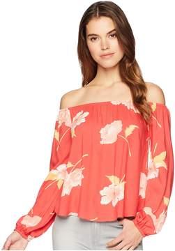 Billabong Mi Amore Woven Top Women's Clothing