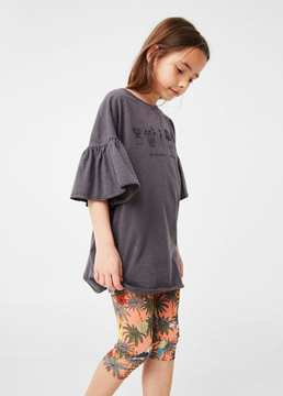 MANGO Printed crop leggings