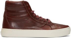 Vans Burgundy Horween Edition Sk8-Hi Cup LX Sneakers
