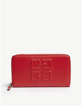 Givenchy Logo grained leather long wallet