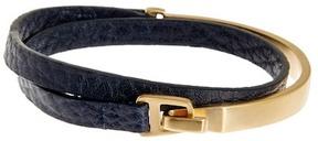 Miansai Moore Half Metal Leather Cuff Wrap Bracelet
