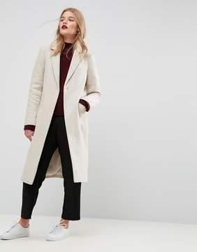 Asos Slim Coat in Wool Blend
