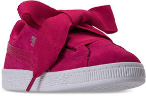 Puma Little Girls' Suede Heart Casual Sneakers from Finish Line