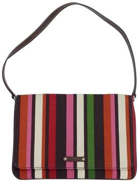 Kate Spade MultiColor Striped Canvas & Leather Handbag - RED - STYLE