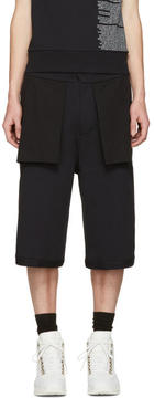 Public School Black Mono Reverse Short
