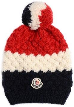 Moncler Tricolor Logo Wool Alpaca Hat