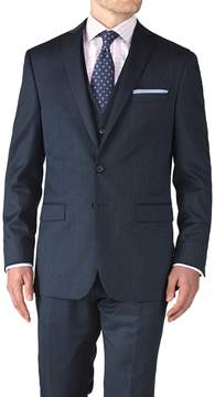 Charles Tyrwhitt Airforce Blue Slim Fit Twill Business Suit Wool Jacket Size 36