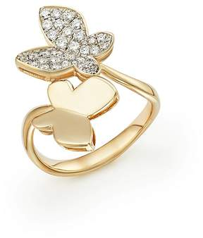 Bloomingdale's Diamond Butterfly Ring in 14K Yellow Gold, .50 ct. t.w. - 100% Exclusive