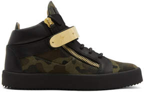 Giuseppe Zanotti Green Camo May London High-Top Sneakers