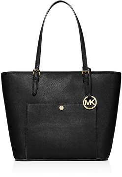 MICHAEL Michael Kors Jet Set Large Top Zip Snap Pocket Tote - BLACK/GOLD - STYLE