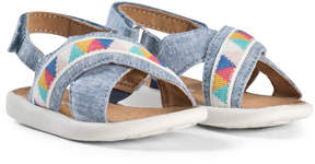 Toms Blue Chambray Sandals