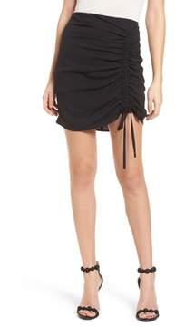J.o.a. Cinch Hem Miniskirt