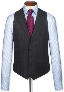 Charles Tyrwhitt Charcoal Saxony Business Suit Wool Vest Size w36