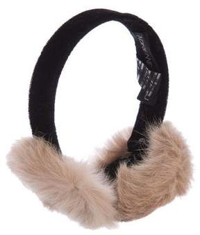 Adrienne Landau Velvet Fur Earmuffs