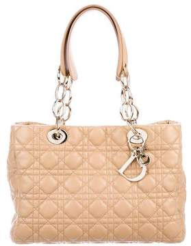 Christian Dior Small Cannage Zipped Shopping Tote