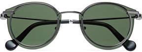 Moncler Round-Frame Gunmetal-Tone Sunglasses