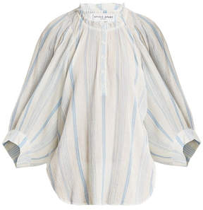 Apiece Apart Everlasting Striped Cotton Blouse