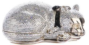 Judith Leiber Swarovski Crystal Sleeping Cat Minaudière