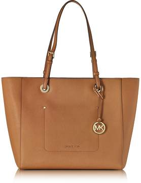 Michael Kors Walsh Large Acorn Saffiano Leather EW Top-Zip Tote - ONE COLOR - STYLE