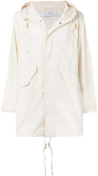 Closed hooded lightweight coat