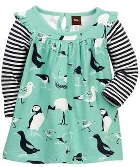 Tea Collection Seabirds Mighty Mini Dress (Baby Girls)