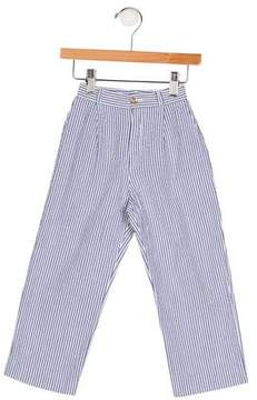 Papo d'Anjo Girls' Pinstripe Two Pocket Pants