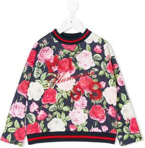 Miss Blumarine floral print swetashirt