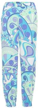 Emilio Pucci Beach Printed jersey trackpants