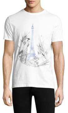 Commune De Paris Jungle Eiffel Cotton Tee