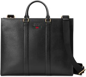 Gucci Leather tote with Web