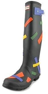 Hunter Tall Tick Tape Women Round Toe Synthetic Multi Color Rain Boot.