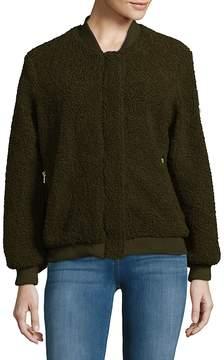 C&C California Women's Faux Fur Bomber Jacket