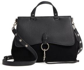 Rebecca Minkoff Medium Keith Suede & Leather Satchel - Black - BLACK - STYLE