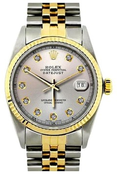 Rolex Datejust Two Tone 36mm Mens Watch