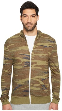Alternative Printed L/S Zip Hoodie Men's Sweatshirt