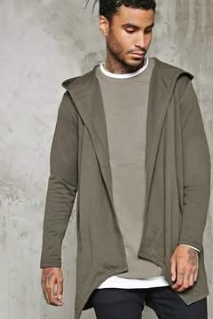 21men 21 MEN Hooded Open-Front Cardigan