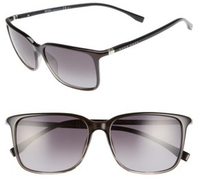 BOSS Men's '0666/s' 52Mm Sunglasses - Shaded Black Shaded Black