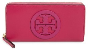 Tory Burch Women's Charlie Leather Continental Wallet - Pink - GREEN - STYLE