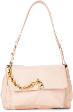 Patrizia Pepe Butterfly Rose Leather Shoulder Bag