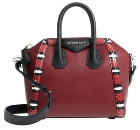 Givenchy Antigona Genuine Snakeskin & Calfskin Leather Satchel - Red